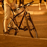 Detail of a cyclist Stock Image