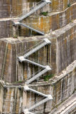 Detail of a dam, the backstairs Royalty Free Stock Photos