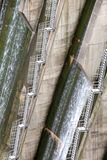 Detail of a dam, the backstairs Stock Photo