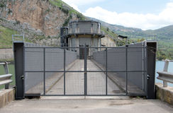 Detail of a dam, the protection fence Royalty Free Stock Photos