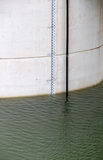 detail of a dam, the water level indicator Stock Image
