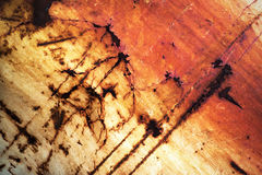 Detail damaged paint on metal Royalty Free Stock Photography