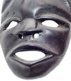 Detail of dark, black halloween mask, close up isolated Royalty Free Stock Image