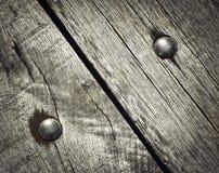 Detail dat op houten raad wordt vastgenageld royalty-vrije stock afbeelding