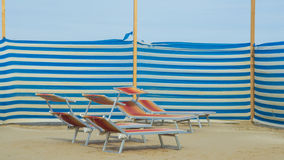 Detail of deck chairs Royalty Free Stock Photography