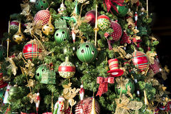Detail decorated Christmas Tree Royalty Free Stock Photography