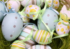 Detail of decorated Easter eggs Stock Photo