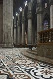 Detail of the decorated floor in candoglia marble Royalty Free Stock Image