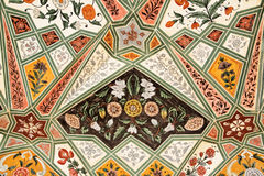 Detail of decorated gateway. Amber fort. Stock Images