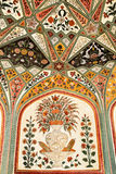 Detail of decorated gateway. Amber fort. Stock Photo