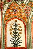 Detail of decorated gateway. Amber fort. Royalty Free Stock Photography