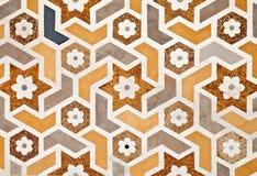 Detail of decorating the Taj Mahal Stock Photography