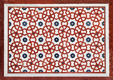 Detail of decorating the Taj Mahal Stock Images