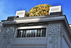 Detail decoration on facade of Secession Building, Vienna Royalty Free Stock Photos