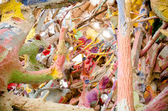 Detail of decoration inside of Salvation mountain Stock Photography