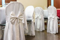 Detail of decoration  wedding chair closeup holiday Royalty Free Stock Images