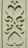 Detail of the decoration of the wooden hou Stock Photos