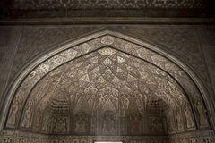 Detail of the decorations in Agra Fort - Agra - India Stock Image