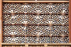 Detail of decorations on the facade of Palace of Sheki Khans Stock Photos
