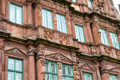 Detail of Decorative Facade of Hotel Ritter stock photography