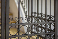 Detail of decorative metal fence Royalty Free Stock Photography