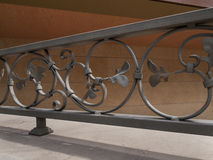 Detail of decorative metal fence Stock Images