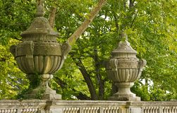 Detail of decorative ornaments. Detail of decorative ornaments fence Massandra Palace Royalty Free Stock Photos