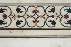 Detail decorative of taj mahal Stock Photography