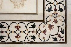Detail decorative of taj mahal Royalty Free Stock Photo
