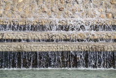 Detail of a decorative waterfall Royalty Free Stock Photography