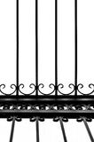 Detail of decorative wrought iron fence Royalty Free Stock Images