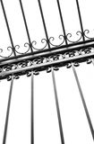Detail of decorative wrought iron fence Stock Images