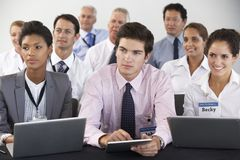 Detail Of Delegates Listening To Presentation At Conference Royalty Free Stock Photos