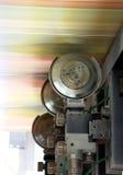 detail den förskjutna rengöringsduken för pressrullar Royaltyfri Foto