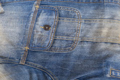 Detail of denim jeans jacket Royalty Free Stock Photo