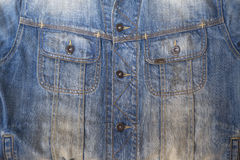 Detail of denim jeans jacket Stock Photos