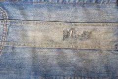 Detail of denim jeans jacket Stock Photography