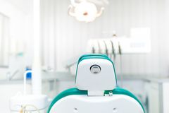 Detail of dentist chair Stock Photography
