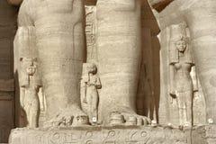 Detail der Abu Simbel-Tempel Stockfoto