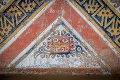 Detail der alten Wand an Huaca De-La Luna in Trujillo, Peru Lizenzfreies Stockfoto