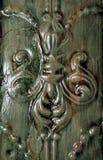 Detail der antiken Zinn-Decke Stockbild