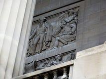 Detail der Architektur: Nationale Archive, Washington DC lizenzfreies stockfoto