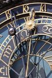 Detail der astronomischen Borduhr, Prag Stockbilder
