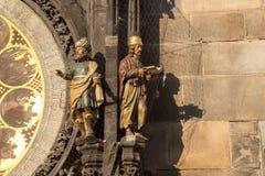 Detail der astronomischen Uhr Prags Stockfotos