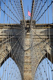 Detail der Aufhebung auf Brooklyn-Brücke lizenzfreies stockbild