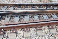 Detail der Bahnlinie Stockfoto