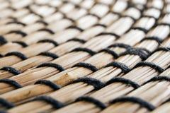 Detail der Bambustabellenmatte stockfotografie