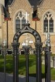 Detail der bearbeiteten Eisengießerei stockbilder