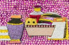Detail der Blumendekoration (Blumen-Festival, Thailand) Lizenzfreie Stockfotografie