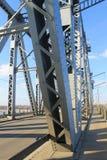 Detail der Brücke in Kremenchug, Ukraine Stockbild